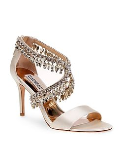 Badgley Mischka | Grammy Jewel Embellished Open Toe High Heel Sandals