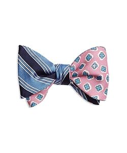 Brooks Brothers | Double-Sided Stripe/Flower Self-Tie Bow Tie