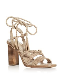 Joie | Banji Braided Ankle Tie High Heel Sandals