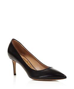 Salvatore Ferragamo | Fiore Leather Pointed Toe High Heel Pumps