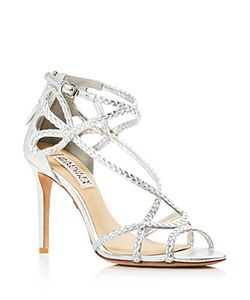 Badgley Mischka | Crystal Braided Strappy High Heel Sandals