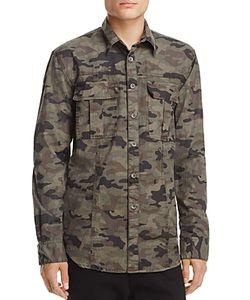 Hudson   Camouflage Regular Fit Button-Down Shirt