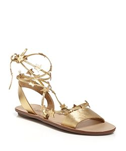 Loeffler Randall | Open Toe Flat Lace Up Sandals Starla Star