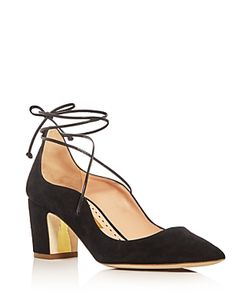Rupert Sanderson | Poet Lace Up Pointed Toe Pumps