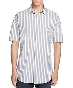 Zanerobe   Striped Short Sleeve Slim Fit Button Down