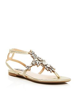 Badgley Mischka | Cara Ii Embellished Flat Sandals
