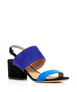 Salvatore Ferragamo | Elba Two Band Block Heel Sandals