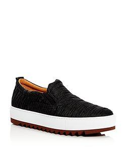 Salvatore Ferragamo | Lucca 2 Woven Slip On Platform Sneakers