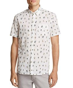Michael Bastian | Cactus Print Regular Fit Button Down Shirt