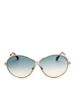 Tom Ford | Rania Oversized Round Sunglasses 65mm