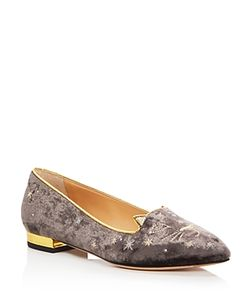 Charlotte Olympia | Mid Century Kitty Embroidered Flats