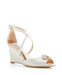 Badgley Mischka | Abigail Criss Cross Wedge Sandals