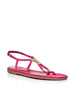 Sergio Rossi   T-Strap Thong Sandals