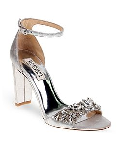 Badgley Mischka | Barby Embellished Ankle Strap High Heel Sandals