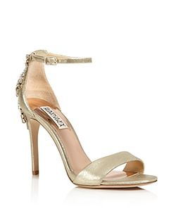 Badgley Mischka | Bartley Embellished Ankle Strap High Heel Sandals