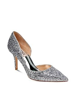 Badgley Mischka | Daisy Glitter Half Dorsay Pointed Toe Pumps