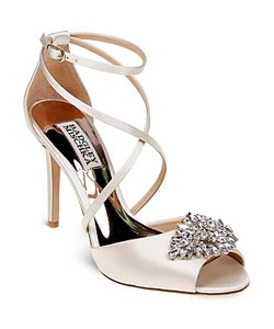 Badgley Mischka | Tatum Embellished Crisscross High Heel Sandals