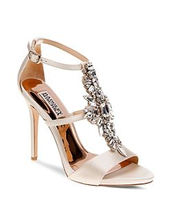 Badgley Mischka | Basile Embellished T Strap High Heel Sandals