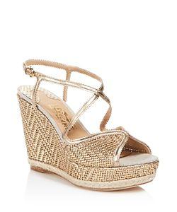 Salvatore Ferragamo | Enrica Leather Platform Wedge Sandals