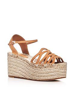 Giorgio Armani | Ankle Strap Platform Espadrille Sandals