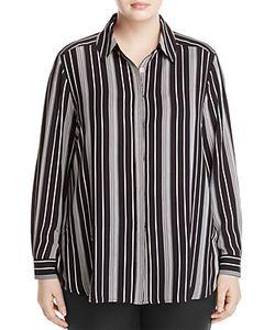 Foxcroft Plus   Addison Striped Blouse