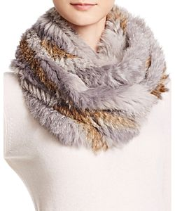 Jocelyn | Rabbit Fur Knit Infinity Scarf