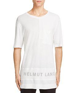 Helmut Lang | Mesh Panel Logo Tee
