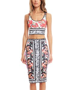 Clover Canyon | Floral Scarf Reversible Crop Top