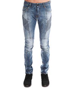 Pierre Balmain | Balmain Rib Moto Blue Jean
