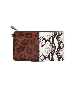 Newbark | Double Animal Print Pouch