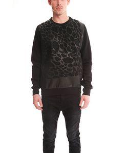 Giorgio Brato | Leather Leopard Sweatshirt