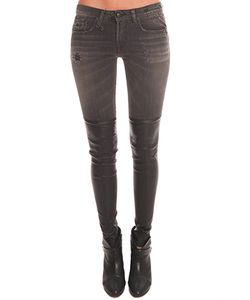 R13 | Knee Chaps Shredded Jean