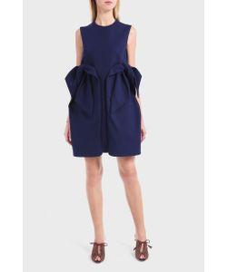 Delpozo | Womens Bow Crepe Dress Boutique1