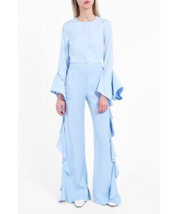 Sara Battaglia | Ruffle Flare Trousers Boutique1