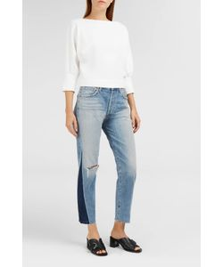 Citizens of Humanity | Womens Liya Cropped Distressed Straight-Leg Jeans