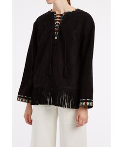 Talitha | Suede Fringe Top Boutique1