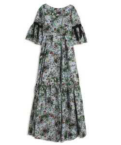 Erdem | Flared Ribbon Sleeve Gown Boutique1