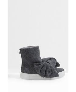 Joshua Sanders | Womens Felt Bow Boots Boutique1