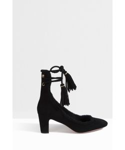 Rochas | Womens Shearling Wrap Up Heels Boutique1