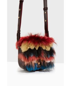 Paula Cademartori | Womens Stripe Fur Sml Cross Body Boutique1