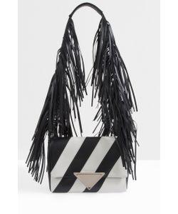Sara Battaglia | Womens Striped Fringe Shoulder Bag Boutique1