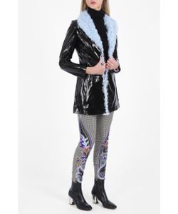 Charlotte Simone | Womens Patent Leather Shearling Jacket Boutique1