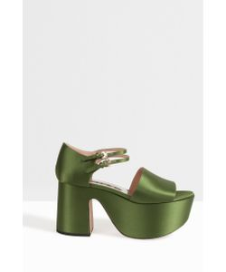 Rochas | Womens Satin Platform Sandals Boutique1