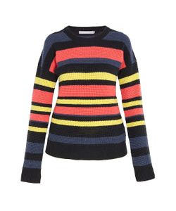 Jason Wu | Striped Crochet Knit Sweater