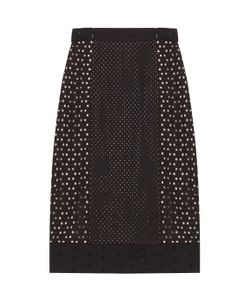 Tamara Mellon | Highwaisted Eyelet Skirt