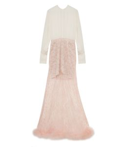 Alessandra Rich   Gown With Lace Feather Skirt