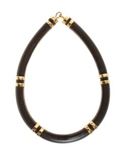 Lizzie Fortunato Jewels | Leather Tube Necklace