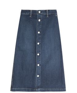 Alexa Chung for AG | Denim Button Up Skirt