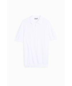 John Smedley   Mens Pique Knit Polo Shirt Boutique1