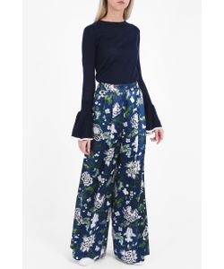 Adam Lippes | Womens Floral Silk Trousers Boutique1